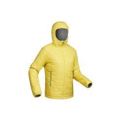 Kurtka trekkingowa zimowa Trek 100 z kapturem męska. Czarne kurtki męskie marki WED'ZE, m, z materiału. Za 149,99 zł.