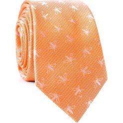 Krawat KWOR001763. Brązowe krawaty męskie Giacomo Conti, z mikrofibry. Za 69,00 zł.