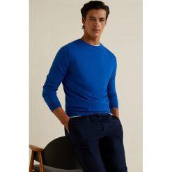 Mango Man - Sweter Ten. Szare swetry klasyczne męskie Mango Man, l, z bawełny, z okrągłym kołnierzem. Za 139,90 zł.