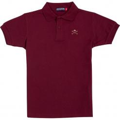 Koszulka polo w kolorze czerwonym. Czerwone t-shirty chłopięce marki Polo Club Women & Kids, z haftami, z bawełny. W wyprzedaży za 86,95 zł.
