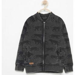 Bluza z nadrukiem - Szary. Szare bluzy chłopięce rozpinane marki Reserved, l, z nadrukiem. Za 79,99 zł.