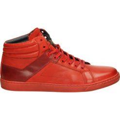 Botki męskie - 489 G-L-S RED. Czerwone botki męskie Venezia, ze skóry. Za 229,00 zł.