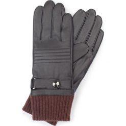 Rękawiczki męskie 39-6-705-BB. Brązowe rękawiczki męskie Wittchen, z polaru. Za 149,00 zł.