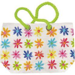 """Shopper bag damskie: Torba plażowa """"Aquarell"""" z kolorowym wzorem - 55 x 38 x 16 cm"""