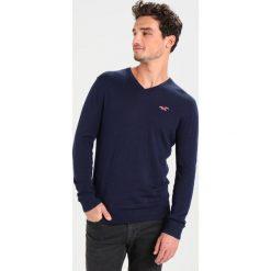 Swetry klasyczne męskie: Hollister Co. CHAIN VNECK Sweter navy
