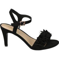 Rzymianki damskie: sandałki na obcasie Catwalk czarne