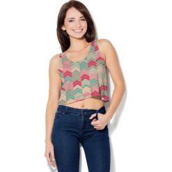 Colour Pleasure Koszulka damska CP-035 101 niebiesko-różowa r. XXXL-XXXXL. Fioletowe bluzki damskie marki Colour pleasure, uniwersalny. Za 64,14 zł.