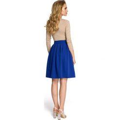 PIPER Spódnica w kontrafałdy - chabrowa. Niebieskie spódnice wieczorowe Moe, w paski, wyszczuplające. Za 99,00 zł.