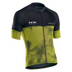 Northwave Męska Koszulka Rowerowa blade3 Jrs S/S Yellow Fluo/Black L. Czarne odzież rowerowa męska marki B'TWIN, m. Za 299,00 zł.