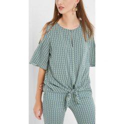 Bluzki damskie: Bluzka w geometryczny wzór
