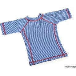 T-shirt plażowo-kąpielowy dla dzieci UPF 50+. Niebieskie t-shirty chłopięce z krótkim rękawem Pakamera. Za 89,00 zł.