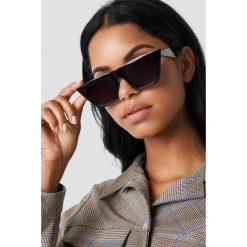 Okulary przeciwsłoneczne damskie aviatory: NA-KD Accessories Okulary przeciwsłoneczne kocie oczy - Black