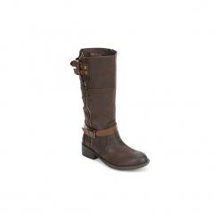 Kozaki Xti  SHORT COWBOY. Brązowe buty zimowe damskie marki Xti. Za 271,20 zł.