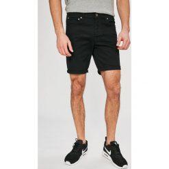 Jack & Jones - Szorty Rick. Czarne szorty męskie marki Jack & Jones, l, z bawełny, z klasycznym kołnierzykiem, z długim rękawem. W wyprzedaży za 79,90 zł.