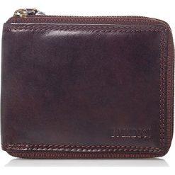 Skórzany portfel w kolorze ciemnobrązowym - 9 x 11 x 1,5 cm. Brązowe portfele damskie I MEDICI FIRENZE, ze skóry. W wyprzedaży za 105,95 zł.