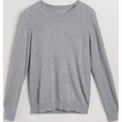 Sweter z wełną merino - Szary. Białe swetry klasyczne męskie marki Reserved, l. Za 139,99 zł.