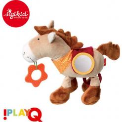 SIGIKID Przytulanka aktywizująca Koń z gryzakiem, lusterkiem, piszczałką, obręczami i szeleszczącą folią 6m+ PlayQ. Różowe przytulanki i maskotki SIGIKID. Za 106,99 zł.