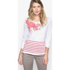 Kardigany damskie: Sweter w marynarskim stylu, okrągły dekolt