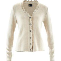 Sweter rozpinany ludowy z falbankami bonprix beżowo-szary. Szare swetry rozpinane damskie marki Mohito, l. Za 89,99 zł.