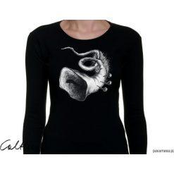 Trąbka - damska koszulka z długim rękawem. Czarne bluzki longsleeves Pakamera. Za 79,00 zł.