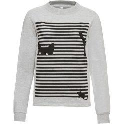 Bluza z nadrukiem bonprix jasnoszary melanż - czarny z nadrukiem. Szare bluzy z nadrukiem damskie bonprix. Za 49,99 zł.