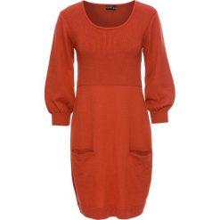 Sukienki hiszpanki: Sukienka dzianinowa bonprix czerwony karminowy