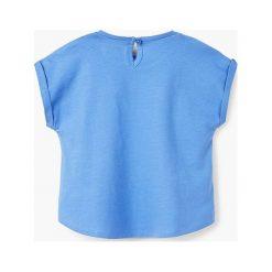 Mango Kids - Top dziecięcy Maria 80-104 cm. Różowe bluzki dziewczęce marki Mayoral, z bawełny, z okrągłym kołnierzem. W wyprzedaży za 12,90 zł.
