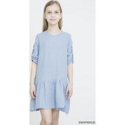 Sukienki dziewczęce z falbanami: SUNNY SPRING niebieska sukienka dla dziewczynek