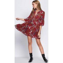 Bordowa Sukienka Underrated. Czerwone sukienki hiszpanki Born2be, na jesień, uniwersalny, z koszulowym kołnierzykiem, koszulowe. Za 79,99 zł.