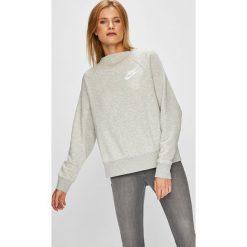 Nike Sportswear - Bluza. Szare bluzy rozpinane damskie Nike Sportswear, m, z nadrukiem, z bawełny, bez kaptura. W wyprzedaży za 199,90 zł.