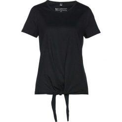 T-shirt z przewiązaniem bonprix czarny. Czarne t-shirty damskie bonprix. Za 34,99 zł.
