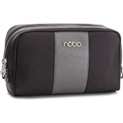 Kosmetyczka NOBO - NCOS-E08-C020  Czarny. Czarne kosmetyczki męskie Nobo, z materiału. W wyprzedaży za 59,00 zł.