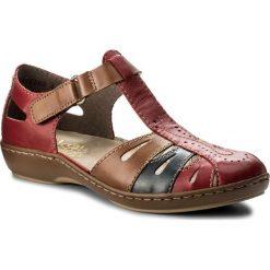 Rzymianki damskie: Sandały RIEKER – 45867-33 Red