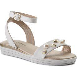 Sandały dziewczęce: Sandały STUART WEITZMAN – B182611 A-White (Sauvage)