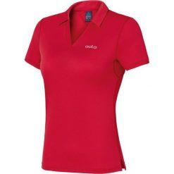 Odlo Koszulka damska Polo shirt s/s Anelle czerwona r. M. Czerwone topy sportowe damskie Odlo, m. Za 145,24 zł.