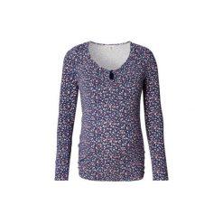 Esprit  Bluzka z długim rękawem dla kobiet w ciąży - niebieski. Niebieskie bluzki asymetryczne Esprit, z bawełny, z długim rękawem. Za 145,00 zł.