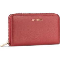 Duży Portfel Damski COCCINELLE - BW5 Metallic Soft E2 BW5 11 32 01 Coquelicot 209. Czarne portfele damskie marki Coccinelle. W wyprzedaży za 419,00 zł.