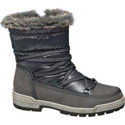 Śniegowce damskie Cortina popielate. Czarne buty zimowe damskie marki Cropp. Za 139,90 zł.