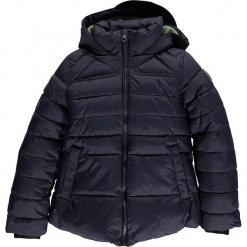 Kurtka zimowa w kolorze granatowym. Niebieskie kurtki dziewczęce zimowe marki CMP Kids, z polaru. W wyprzedaży za 175,95 zł.