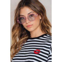 Okulary przeciwsłoneczne damskie: NA-KD Trend Owalne okulary przeciwsłoneczne – Pink,Blue,Multicolor