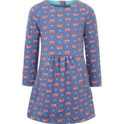 Sukienki dziewczęce z falbanami: Frugi ZGREEN LULU JUMPER DRESS  Sukienka z dżerseju geo fox