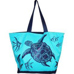 """Torba plażowa """"Acapulco"""" w kolorze turkusowo-granatowym - 35 x 58 x 23 cm. Niebieskie torby plażowe Le Comptoir de la Plage, z tworzywa sztucznego. W wyprzedaży za 38,95 zł."""