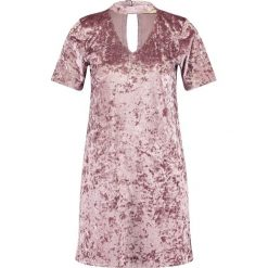 Sukienki: Hollister Co. VELVET T SHIRT DRESS Sukienka z dżerseju purple sd/texture