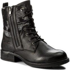 Botki JENNY FAIRY - WS16132-35 Czarny. Czarne buty zimowe damskie Jenny Fairy, z materiału, na obcasie. Za 129,99 zł.