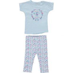 Odzież niemowlęca: 2-częściowy zestaw w kolorze błękitnym ze wzorem