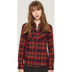 Koszula w kratę - Różowy. Czerwone koszule wiązane damskie Sinsay, l. Za 49,99 zł.
