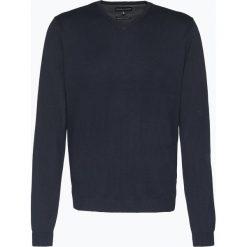 Finshley & Harding - Sweter męski z dodatkiem kaszmiru, niebieski. Niebieskie swetry klasyczne męskie marki Finshley & Harding, l, z aplikacjami, z bawełny. Za 229,95 zł.