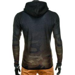 BLUZA MĘSKA ROZPINANA Z KAPTUREM B748 - ZIELONA/MORO. Zielone bluzy męskie rozpinane marki Ombre Clothing, m, moro, z bawełny, z kapturem. Za 69,00 zł.
