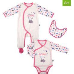 Odzież niemowlęca: 3-częściowy zestaw w kolorze kremowo-różowym