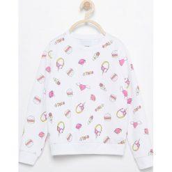 Bluzy dziewczęce rozpinane: Bluza z nadrukiem - Biały